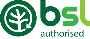 bsl logo green authorised